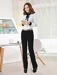 Women's Turtle Neck Slim Professional Long Sleeve Shirts