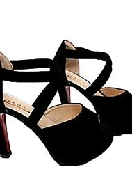 Sunfarey Frauen-Korea-Art-Dick-Absatz-Schuhe