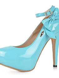bc patentes doce sapatos de plataforma de salto stiletto das mulheres de couro