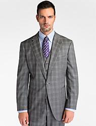 (Prima) gris de lana 100% adaptados en forma de tres piezas uit