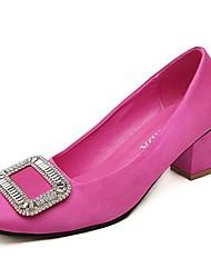 Damenschuhe Karree Blockabsatz Satin pumpt Schuhe weitere Farben erhältlich