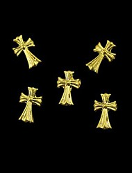 10pcs   Golden Crossing Finger Tips Accessories Nail Art Decoration