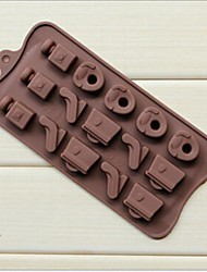 15 Hole Bag And High Heels Cake Ice Jelly Chocolate Molds,Silicone 22.5×10.5×1.5 CM(8.9×4.1×0.6 INCH)