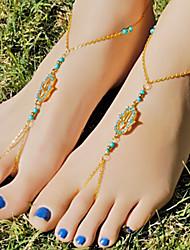 shixin® forme de la main classique d'or diamanted sandales aux pieds nus (1 pc) bijoux