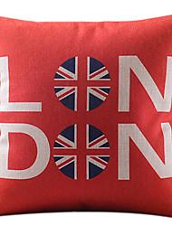 Londres vermelha algodão / linho capa almofadas decorativas