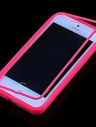 casebox® сплошной цвет прозрачный полный случай тела для iphone 5с