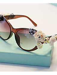 J&X Luxurious Anti Uv Flower Baroque Sunglasses