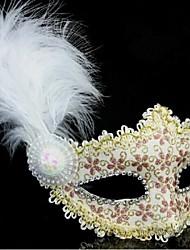 toonykelly® 1pc Leder mit Kristall Blume Glod vizard Maske Prinzessin