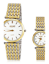 Men's Women's Dress Watch Fashion Watch Wrist watch Quartz Stainless Steel Band Gold Brand