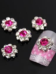 10pcs prune fleur du soleil avec des strass pétale 3d alliage art de la décoration des ongles