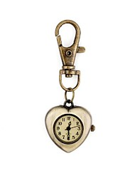 Women's Vintage Heart-Shaped Metal Pendant With Artificial Diamond Bag Keychain Watch (1Pc) Cool Watches Unique Watches