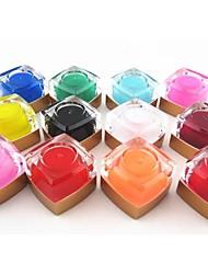12шт смешанные цвета чистого цвета УФ гель строителя УФ цветной гель для ногтей набор ногтей украшения (8 мл)