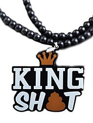 forma muito hip hop rei merda pingente pingente acrílico preto (1 pc)