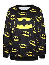 PinkQueen® Women's Spandex Batman Printed Sweatshirt