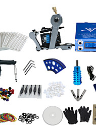 1 Gun Complete No Ink Tattoo Kit with Wrench Shaped Tatoo Machine and Lcd Screen Power Supply