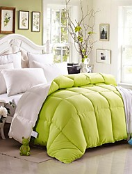 Shuian® Comforter Winter Quilt Keep Warm Thickening Plume Velvet Quilts with Two Color Mixed