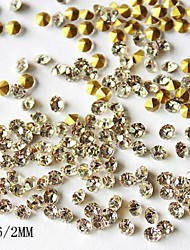 1440pcs 2mm Glitter Strass Nagelkunstdekorationen