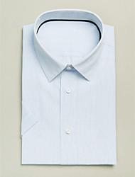 Blue&White 100% Cotton Short Sleeve Shirt