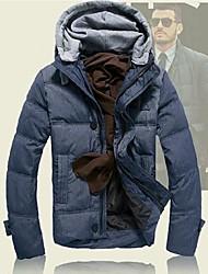 мужская мода вниз пальто