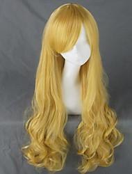 aikatsu hoshimiya ichigo kirisame marisa à long bouclés blond clair 80cm perruque cosplay