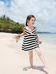 E Wen Cute Sleevless Stripes Beach Dress