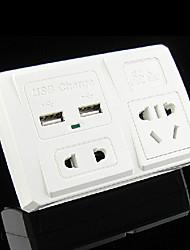 """Power Converter Socket New Standard Dual USB Plastic L4"""" x W3"""" x H1"""""""