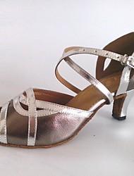 Zapatos de baile (Gris) - Danza latina Tacón Personalizado