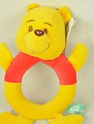 forma de urso amarelo arredondado novo chocalhos brinquedos para atividade berço carrinho de bebê brinquedos de pelúcia