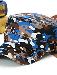 The Spring/Summer Leisure Camouflage Edge Grinding Flat Hat Both Men and Women Baseball Hat Blue