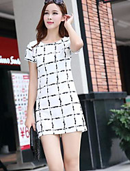 Women's Slim A Word Chequered Dress