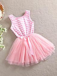 e wen rayas lindo vestido tutú de la princesa (rosa)