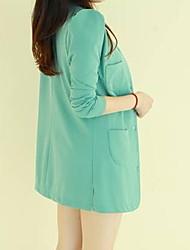 co co bodycon em torno do pescoço de cor sólida casaco de Zhang mulheres