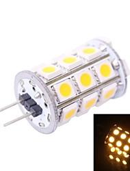 G4 4W 200LM 3500K 27x5050 Warm White LED Light Bulb(DC 12V)