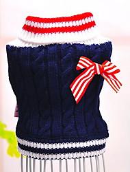 Hunde Pullover Rot / Blau Hundekleidung Winter Einfarbig Modisch / Lässig/Alltäglich