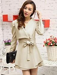Women's Slim Stylish Lapel Collar Windbreaker Jacket