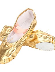 "Women's Kids' Belly Ballet Leatherette Flat Flat Heel Silver Gold Under 1"" Non Customizable"