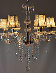 Modern Luxury 6 Lights Chandelier In Crystal Decoration