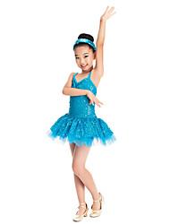 vestido asombroso de lentejuelas y spandex dancewear danza del ballet del tutú de los niños