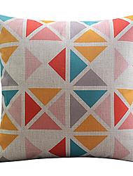 multi-colorido triângulo algodão / linho fronha decorativo
