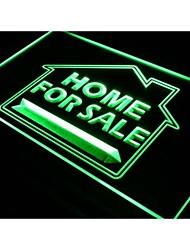 casa j290 a la venta de bienes raíces signo de la luz de neón del señuelo