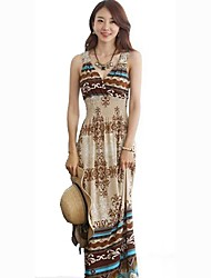 V-Neck Bohemia Beach Long Dress