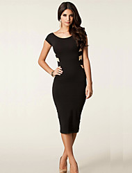 Monta Sexy Back Cross Slim Fit Dress
