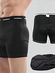 veobike pantaloncini ciclismo intimo maschile pad 3d nero traspirante e confortevole