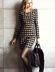 Women's Long Sleeve Printed Winter Dress