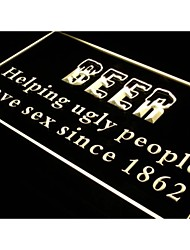 j304 Beer Helping Ugly People Have Sex NEW Light Sign