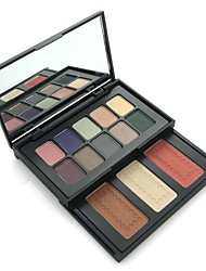 13 Colors  Eyeshadow and Grooming Blusher Combination Suit Push-pull Case