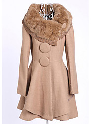 Rock N Roll Women's Fur Collar Tweed Coat
