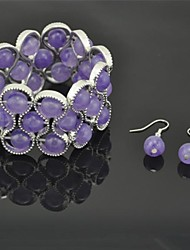 Jewelry Earrings Bracelets & Bangles Party Daily Alloy Women Purple Wedding Gifts