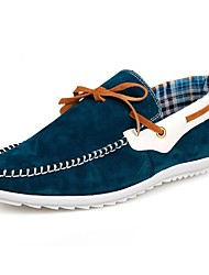 Men's Spring Summer Fall Winter Moccasin Suede Office & Career Casual Navy Black Orange