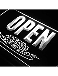 j743 salade ouvert signe nourriture de bar boutique de café au néon de lumière